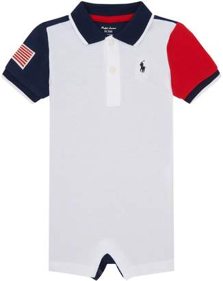 Ralph Lauren Colour-Block Polo Playsuit