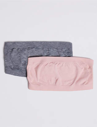 Marks and Spencer 2 Pack Bandeau Seamfree Cropped Tops (9-16 Years)