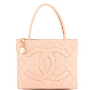 Chanel Pink Quilted Caviar Leather Medallion Tote Bag (Pre Owned)