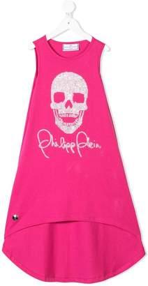 Philipp Plein Junior crystal stud skull dress
