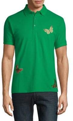 Standard Issue NYC Butterfly Embroidered Cotton Polo