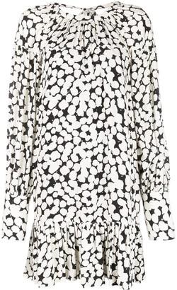 Proenza Schouler Painted Dot Long Sleeve Short Dress