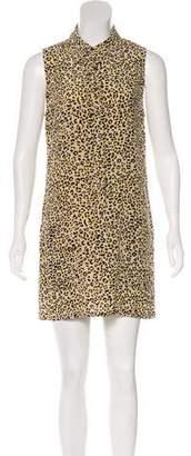 Equipment Printed Sleeveless Silk Mini Dress