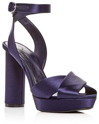 Oscar de la Renta Women's Satin High-Heel Platform Sandals