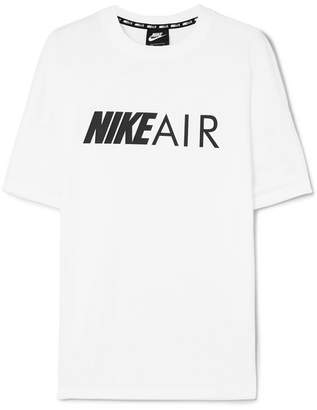Nike Air Printed Cotton-jersey T-shirt - White