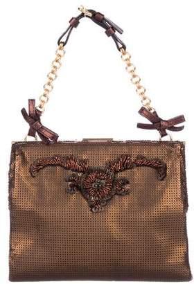 Prada Paillettes Embellished Handle Bag
