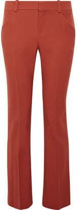 Chloé Wool-blend Twill Slim-leg Pants - Orange