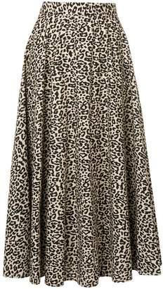Liu Jo leopard print midi skirt