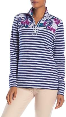Tommy Bahama Mini Harbour Stripe 1/2 Zip Pullover