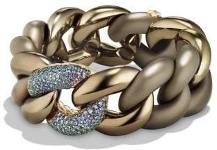 David Yurman Davidyurman Belmont Curb Link Bracelet With Color Change Garnet In