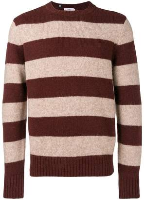 Closed striped knit sweater