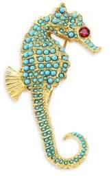 Kenneth Jay Lane Embellished Seahorse Pin