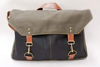 Blade + Blue Olive & Black Canvas Messenger Bag