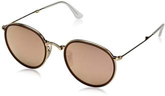 Ray-Ban RB3517 001/Z2 Round - Gold Frame Brown Mirror Pink Lenses 51mm Non-Polarized