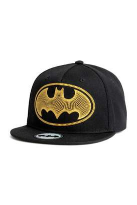 H&M Cap with Motif - Black/Batman - Kids