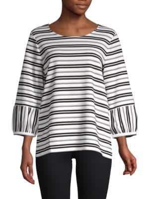 Calvin Klein Striped Drape Top