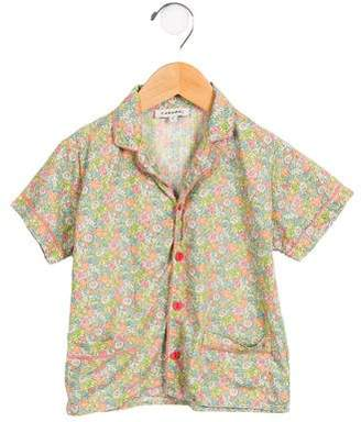 Caramel Baby & Child Girls' Floral Pajama Top
