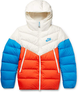 Nike Windrunner Colour-Block Quilted Shell Down Hooded Jacket - Men - Multi
