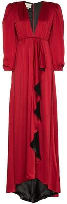 Gucci shoulder pad floor length gown