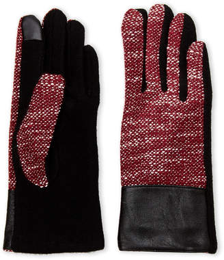Imperial Star Burgundy Lurex Tweed Gloves