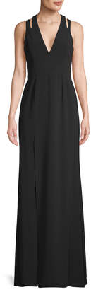 Halston Cut-Out Gown