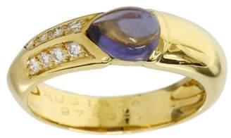 Rugiada 18K Yellow Gold Amethyst & Diamond Ring Size 9