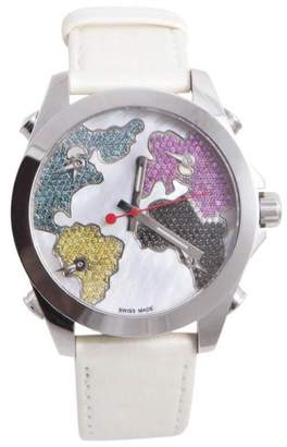 Jacob & co Five Continent Stainless Steel with Mother of Pearl Dial 40mm Mens Watch