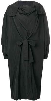 Irina Schrotter wrapped hooded coat