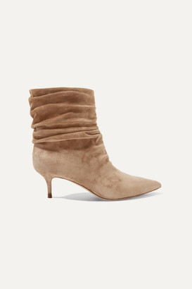 Gianvito Rossi Cecile 55 Suede Ankle Boots - Mushroom