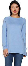 Martha Stewart Raglan Sleeve Hi-Low HemSweater Tunic