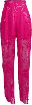 Carmen March Jacquard Velvet High Rise Trousers