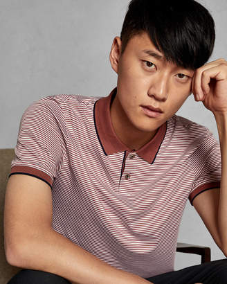 Ted Baker GINGEN Striped cotton polo shirt