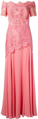 Martha Medeiros off the shoulder lace Patricia gown
