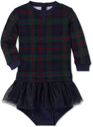 Polo Ralph Lauren Baby Girls Plaid Sweatshirt Dress