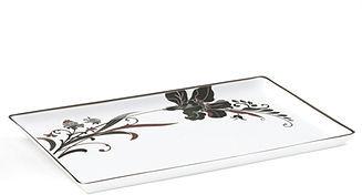Mikasa Dinnerware, Cocoa Blossom Rectangular Tray