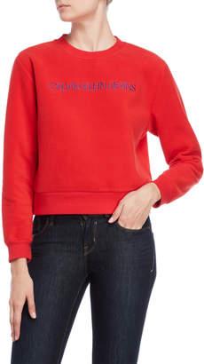 Calvin Klein Jeans Tomato Core Logo Fleece Sweatshirt