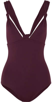 Eres Poker Prime Knotted Swimsuit - Plum