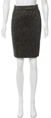 Diane von Furstenberg Metallic Knee-Length Skirt
