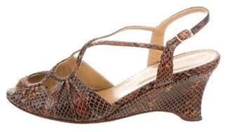 Calypso Leather Wedge Sandals