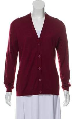 Neiman Marcus Cashmere Button-Up Cardigan