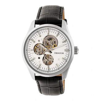 Heritor Unisex Black Strap Watch-Herhr6503
