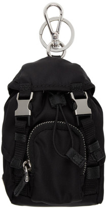 Prada Black Mini Backpack Keychain