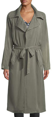 Rachel Pally Self-Belt Garment-Dye Twill Trench Coat, Plus Size