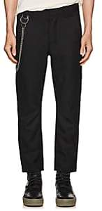 Chapter MEN'S CHAIN-EMBELLISHED COTTON TROUSERS-BLACK SIZE 33