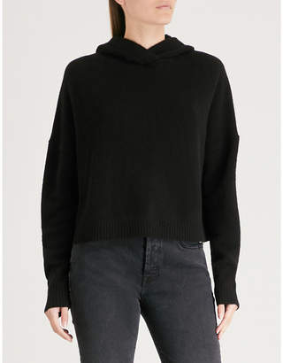 Theory Ribbed-trims cashmere hoody