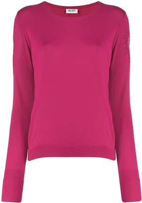 Liu Jo embellished sleeve knit sweater