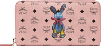 MCM Rabbit Zip Around Wristlet Wallet In Visetos