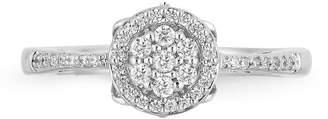 ENCHANTED FINE JEWELRY BY DISNEY Enchanted Disney Fine Jewelry 1/4 C.T. T.W. Diamond 10K White Gold Cinderella Carriage Ring