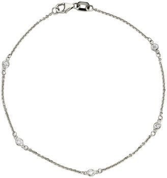 LeVian Suzy Diamonds Suzy 14K 0.10 Ct. Tw. Diamond Station Bracelet