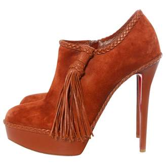 0b736bf74039 Christian Louboutin Suede Ankle Boots For Women - ShopStyle UK